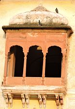 Architect designing of balcony ,summer palace of Maharaja Ranjit Singh ,Amritsar, Punjab,India.jpg