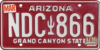 Arizona license plate, 1980–1996 series with March 1998 sticker.png