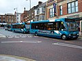 Arriva Optare Solo buses in Darlington 5 May 2009 pic 1.JPG