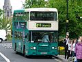 Arriva bus 7268 Leyland Olympian ECW C268 XEF in Darlington, County Durham 21 May 2005.jpg