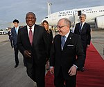 Arrival of Cyril Ramaphosa, President of South Africa (46058059192).jpg