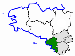 Location of the arrondissement of Saint-Nazaire in Brittany