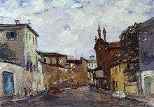 Via San Calimero a Milano (1966) Collezioni d'arte della Fondazione Cariplo