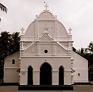 Front of a white church