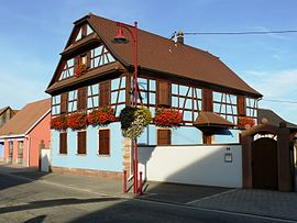A half-timbered house in Artolsheim