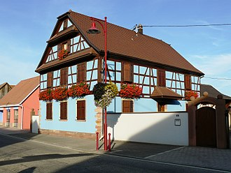 Artolsheim - A half-timbered house in Artolsheim