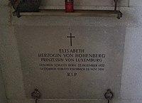 Artstetten, grave of Duchess Elisabeth von Hohenberg née Princess von Luxemburg.jpg