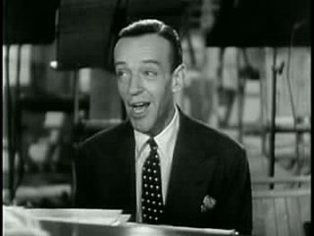 "Movie screenshot of Fred Astaire singing ""..."