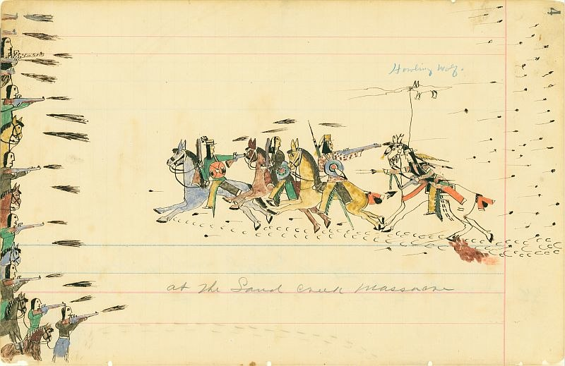 At the Sand Creek Massacre, 1874-1875