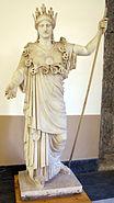 Atena farnese, copia romana da orig. greco della cerchia fidiaca, forse Pyrrhos nel 430 ac ca., 6024, 01