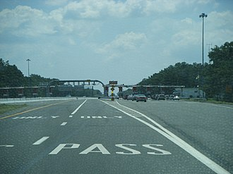 Atlantic City Expressway - Egg Harbor toll plaza