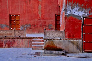 Attractive Red wall of the Junagarh Fort.jpg