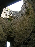 Auchans Castle interior of round tower