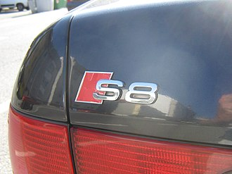 Audi S8 - Logotype «S8» on the back of the car of the first generation.