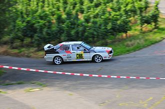 Michèle Mouton - An ex-Mouton Quattro driven during the 2008 Rallye Deutschland