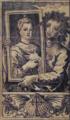 Auto-retrato abraçando a efígie de D. Inês de Lima (1780) - Francisco Vieira Lusitano.png