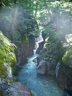 Avalanche Creek in Spring 2007 (Glacier Nation...
