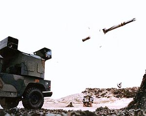 AN/TWQ-1 Avenger - M1097 Avenger launching Starstreak missile