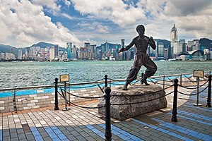 Statue of Bruce Lee (Hong Kong) - Bruce Lee's statue in Hong Kong.