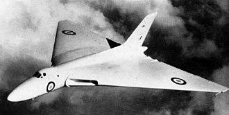 1958 Syerston Avro Vulcan crash - VX770 in flight