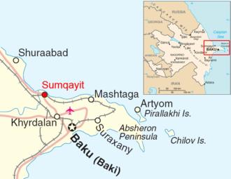Absheron Peninsula - Absheron peninsula with its municipalities are shown