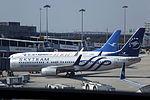 B-5159 & B-5688 - Xiamen Airlines - Boeing 737-85C(WL) - SkyTeam Livery & 100th Boeing Aircraft For Xiamen Airlines Livery - SHA (13563191114).jpg
