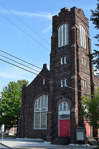 Mount Pleasant Historic District (Harrisburg, Pennsylvania) - The former B.E. Stevens Methodist Church at Thirteenth and Vernon