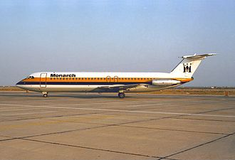Monarch Airlines - Monarch Airlines BAC 1-11 at Faro Airport in 1986
