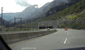 British Columbia Highway 5 - Great Bear snow shed, approaching from the north