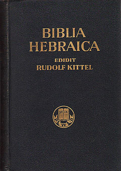 Biblia Hebraica by Rudolf Kittel
