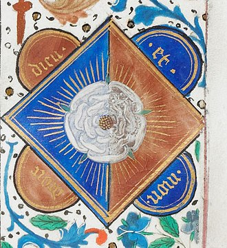 White Rose of York - White Rose of York, from a manuscript of Edward IV of England