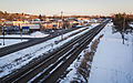 BNSF Railroad and Railway Avenue - Sauk Rapids, Minnesota - Winter (23894354550).jpg