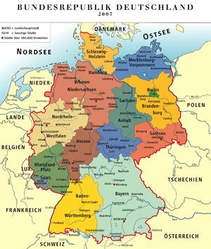 Karte der »Bundesrepublik Deutschland« 2007 / ...