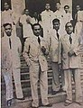 Babasaheb Ambedkar with Homi Bhabha and other colleagues at Siddharth College.jpg