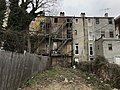 Back of vacant rowhouse, 500 block of W. Mosher Street, Baltimore, MD 21217 (38866724300).jpg