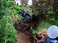 Backpacker climbing rope people NPS Photo (22914386592).jpg