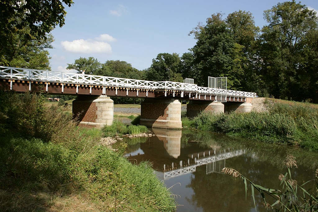 Bad Muskau - Park - Doppelbrücke 03 ies