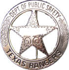 Official 1962 design of Texas Ranger badge