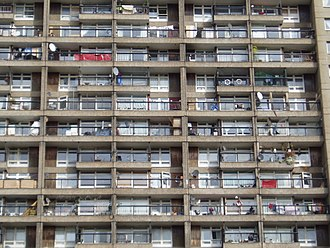 Trellick Tower - All apartments in Trellick Tower have a balcony and large windows to let in as much sunlight as possible.