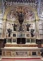 Baldassarre peruzzi (disegno), altare del duomo di siena, 1530-41, tabernacolo del vecchietta, angeli superiori giovanni di stefano e inferiori di francesco di giorgio.JPG