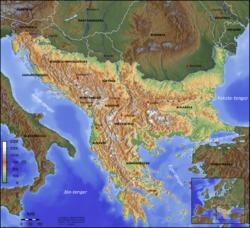 balkán térkép Balkán félsziget – Wikipédia balkán térkép
