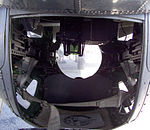 The inside of the ball turret underneath a B-17 Flying Fortress (Yankee Lady).