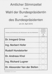 2016 Austrian presidential election - Wikipedia