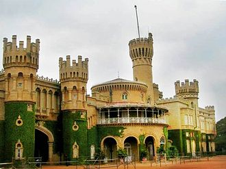 Bangalore - Bangalore Palace, built in 1887 in Tudor architectural style was modelled on the Windsor Castle in England.