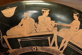 Cup-bearer - A cup-bearer depicted c. 460-450 BC