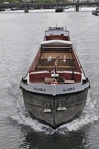Barge Alaska on the river Seine 001.JPG
