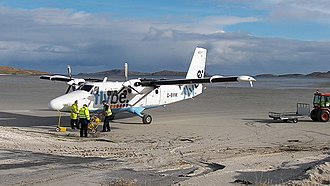 Barra - Twin otter at Barra airport