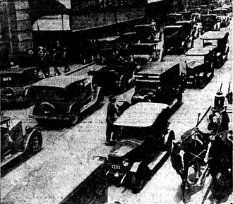Barrack Street - Traffic along a block of Barrack Street, Perth, Western Australia in 1929