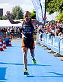Bas Diederen winning 31e Twinfield Triathlon Veenendaal.jpg
