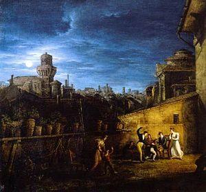 Antonio Basoli - Image: Basoli terrazzo nel locale della Pontificia Accademia di Belle Arti
